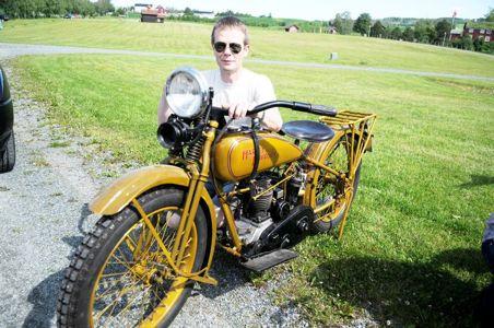 Pål Aasen fra Brekstad med Harley Davidson 350 fra