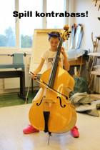 Vi tilbyr også undervisning på kontrabass!