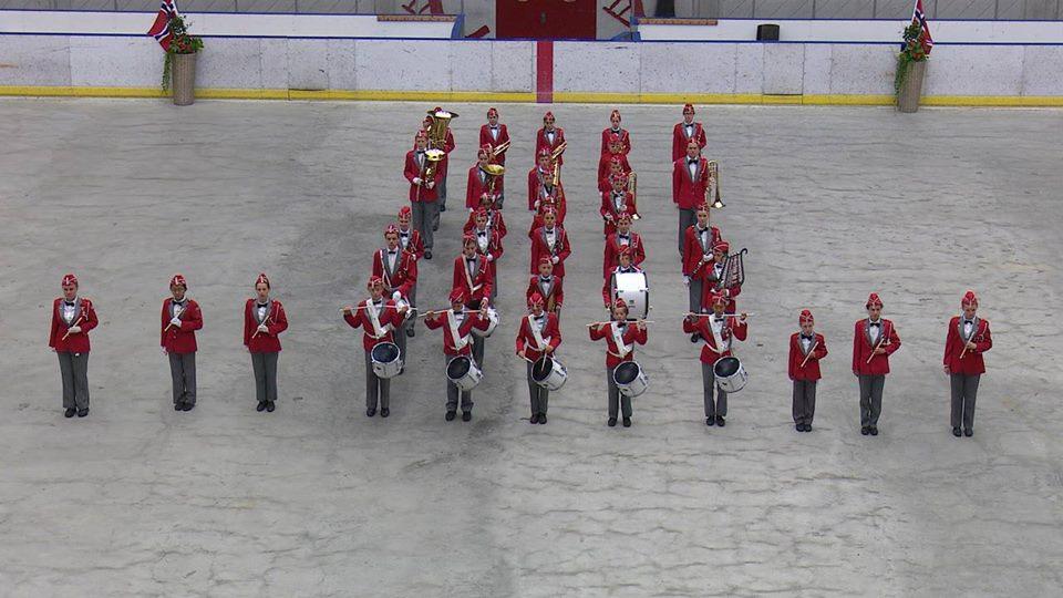 Huseby Skoles Musikkorps i NM Formasjonsmarsj 2017