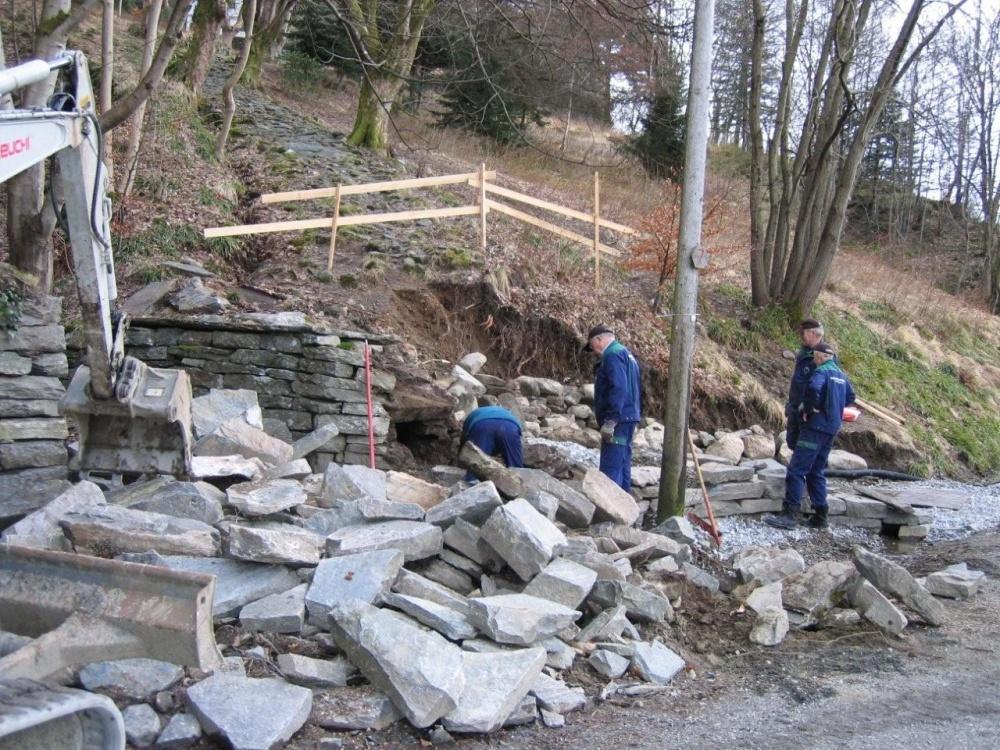 Ny trapp fra Fjellveien til oppgangen mot Øvre Ble
