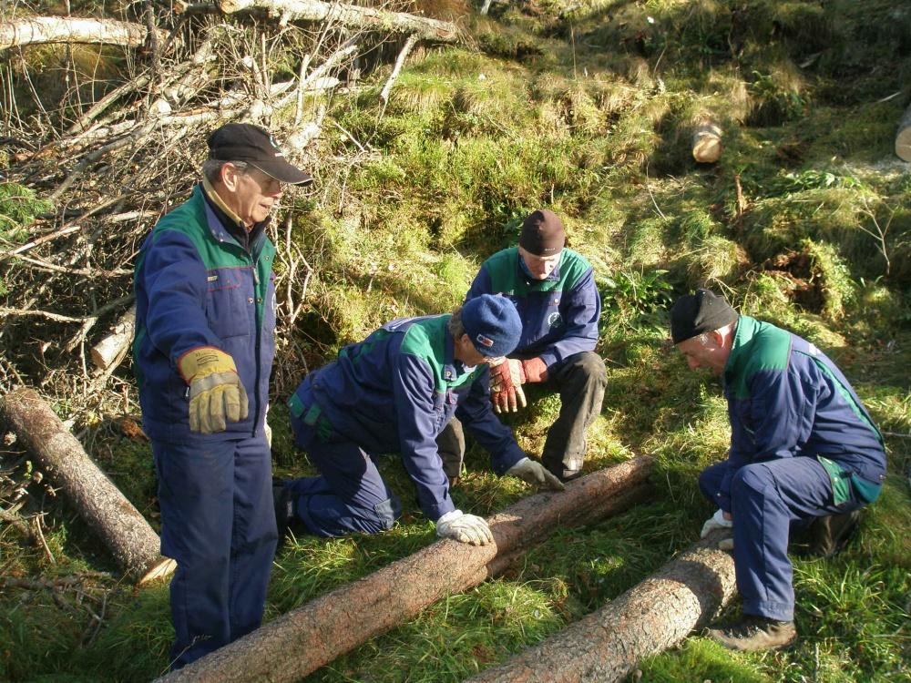 Opparbeidelse av ny sti ved Fløyvarden. 14.okt.jpg