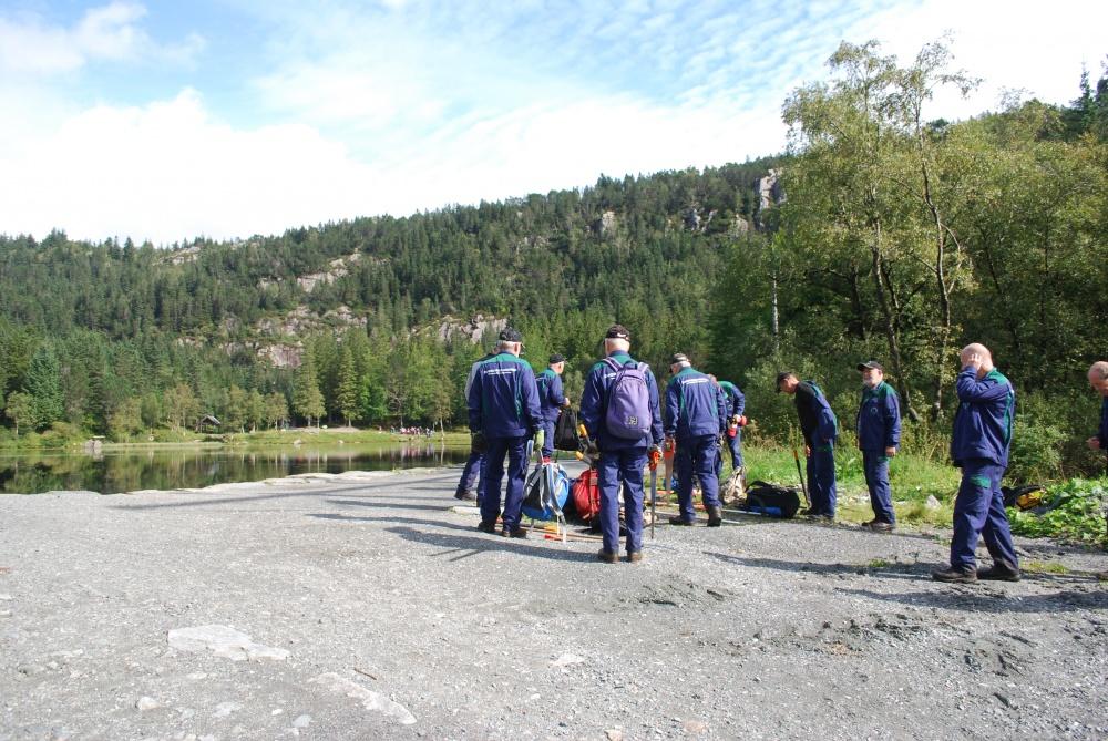 Tynning av skog ved demningen på Skomakerdiket 1.s