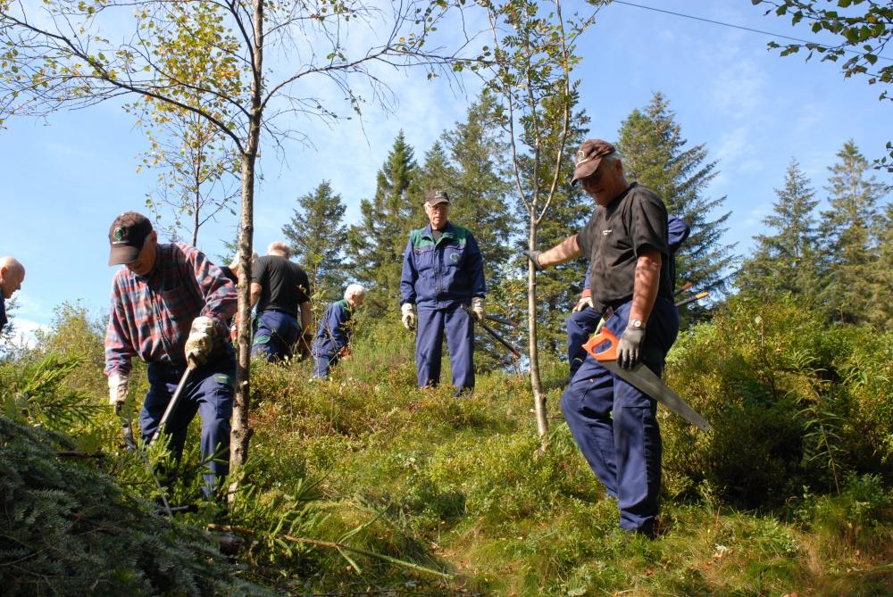 Tynningsarbeid ved Skomakerdiket. 8.sept (foto A.S
