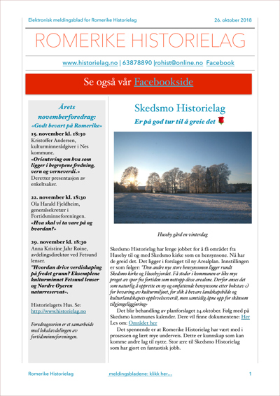 Meldingsblad nov. 2018