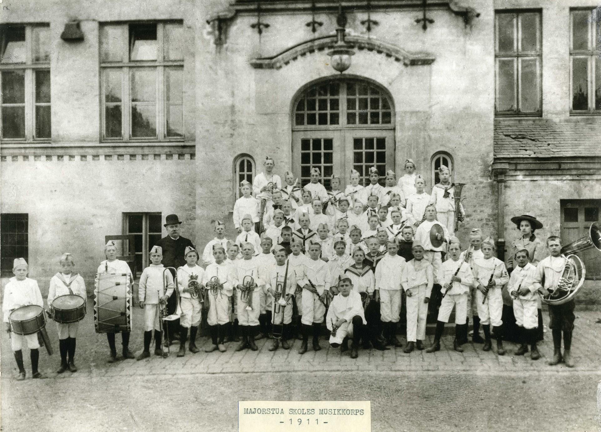Majorstuen skoles første korps ble startet i 1911