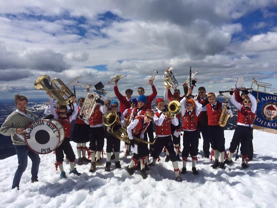 Musikanter på Korpstur
