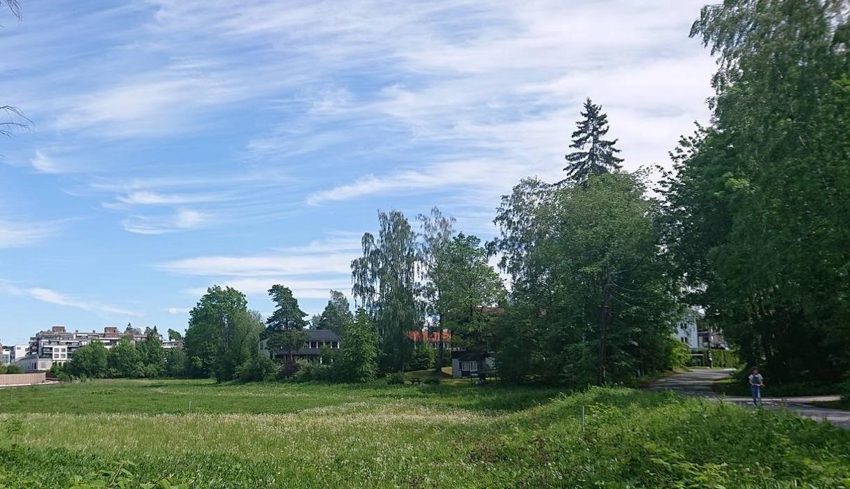 Bekkestua Sør sett fra Kleivveien ved Søråsenparken