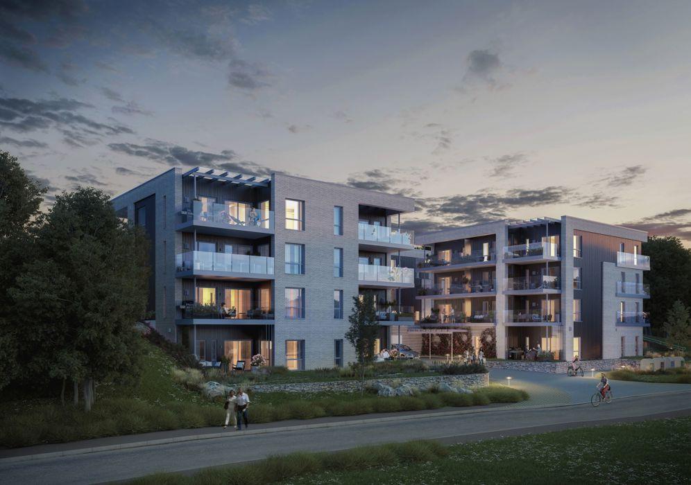Slik ser prosjektet ut i salgsmaterialet som ligger ute på Villa Bekkestuenes hjemmeside.