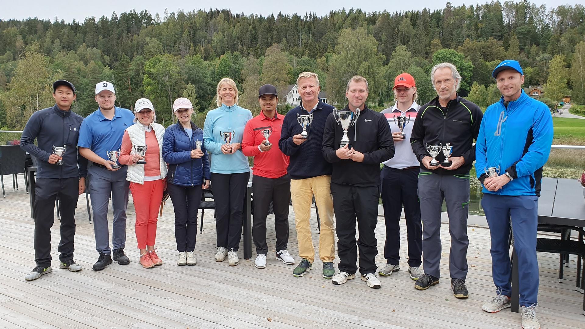 OUS Golfmsterskap 2019 Premie vinnere i alle klass