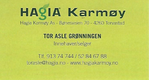 GASS - Hagia Karmøy AS