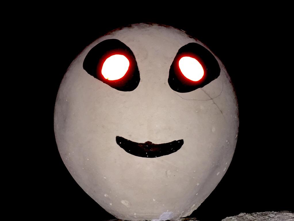 UFO ringen om natten