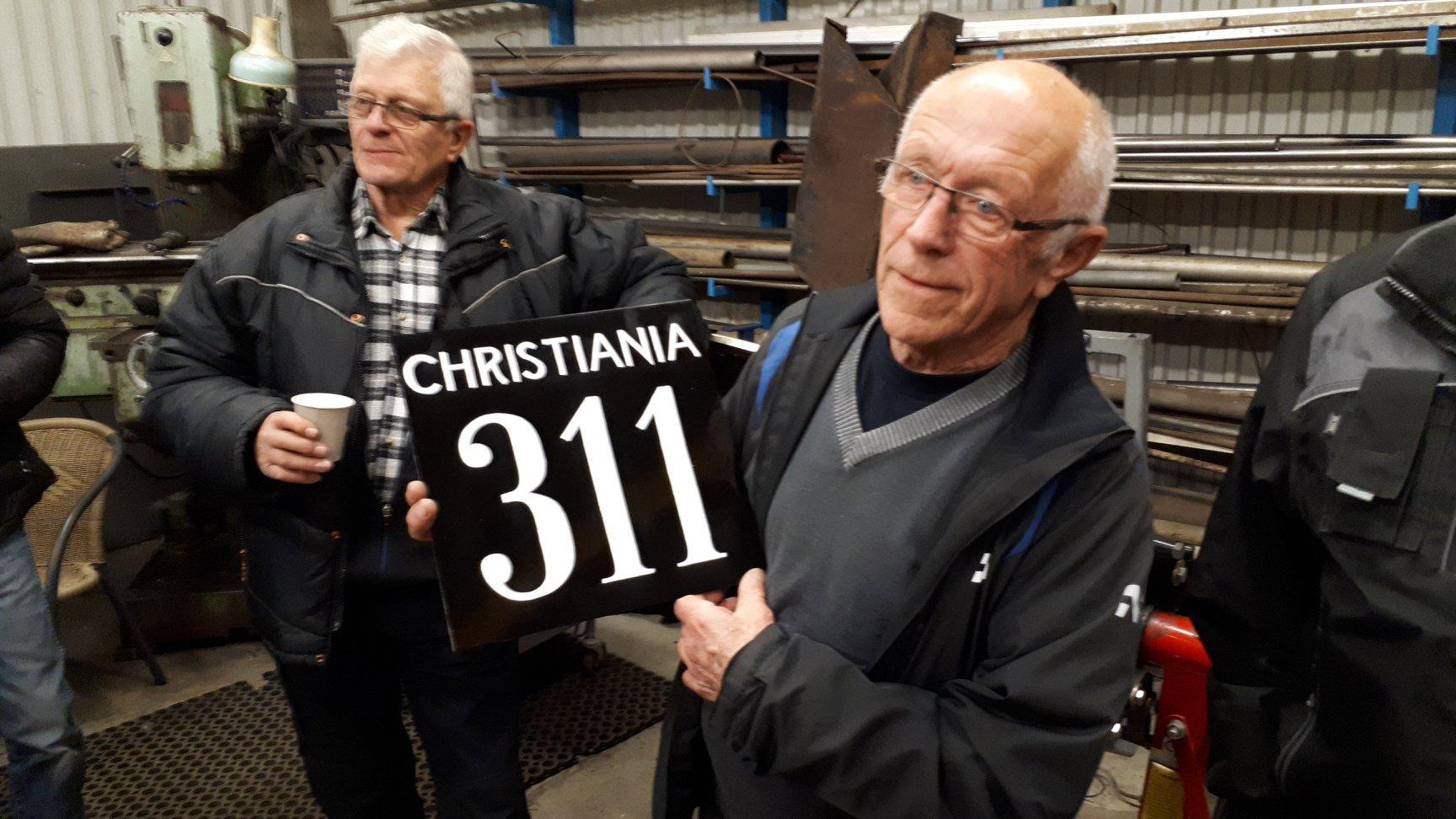 Skilt til Viviniusen Cristiania 311