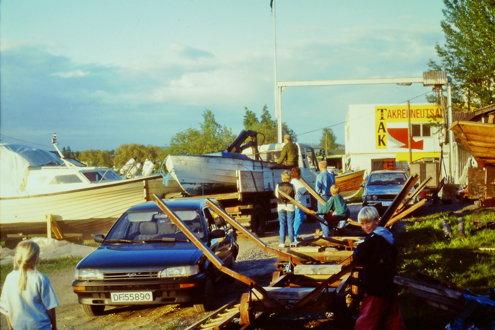 Bilder av flommen i 1995, Strømmen båthavn, Lillestrøm og noen fra Kjeller flyplass