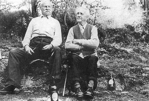 Andreas Gulbrandsen og Gustav Hovelsen på «Butikkh
