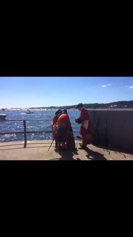 Her er gjengen som var med på indre havn i Larvik da sommerbåten til NRK lå ved Vestre rygge i Larvik 8 august 2015.