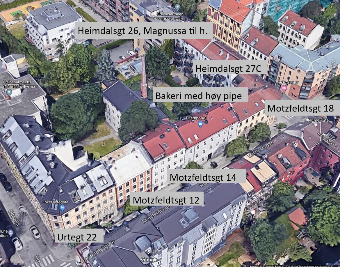 Kart Motzfeldtsgt 12-14-18, Heimdalsgt 27c, Urtegt