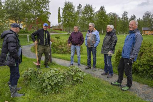Vi vedlikeholder Løveparken på Jøssåsen. Foto: Odd-Rune Wang