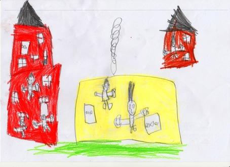 Barnetegninger fra Høvik Verk skole 2015-2016. Tegningene har tittelen Høvik Verk i dag, Høvik Verk om hundre år, eller Høvik Verk for hundre år siden. Samarbeid mellom HVV, Høvik biblioteks venner, skolen og Inger og Odd Figved, som stod for historieundervisningen i festsalen på skolen. Tegningene er bundet sammen til en bok som kan sees på Høvik bibliotek.