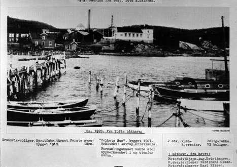 Bilder fra Tofte Båtforeningshavn opp gjennom tidene.