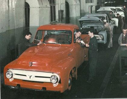 Old Automotive Assembly line pix