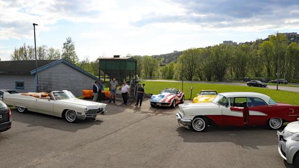 Hele 103 biler møtte opp denne flotte maikvelden. Foto: Kjetil E. Nygaard