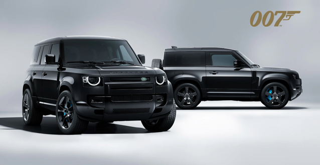 Land Rover is at the heart of the action in No Time To Die. The latest James Bond film features new and classic Land Rovers and has also inspired the Defender V8 Bond Edition.  Inspired by No Time To Die, just 300 Defender V8 Bond Editions will be made. Available in 90 or 110 body styles.