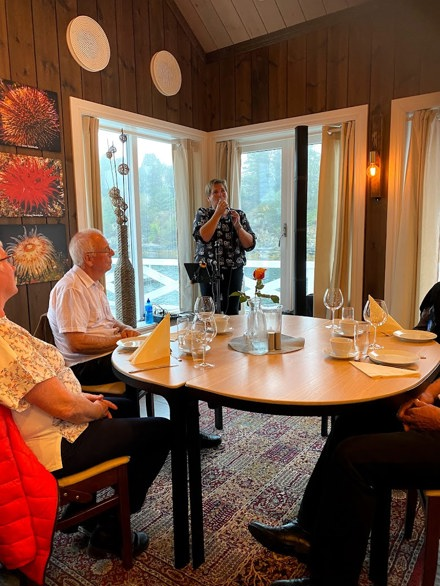 Bilder fra medlemsmøte og høstfest på Kilstraumen Brygge tirsdag 7. september 2021