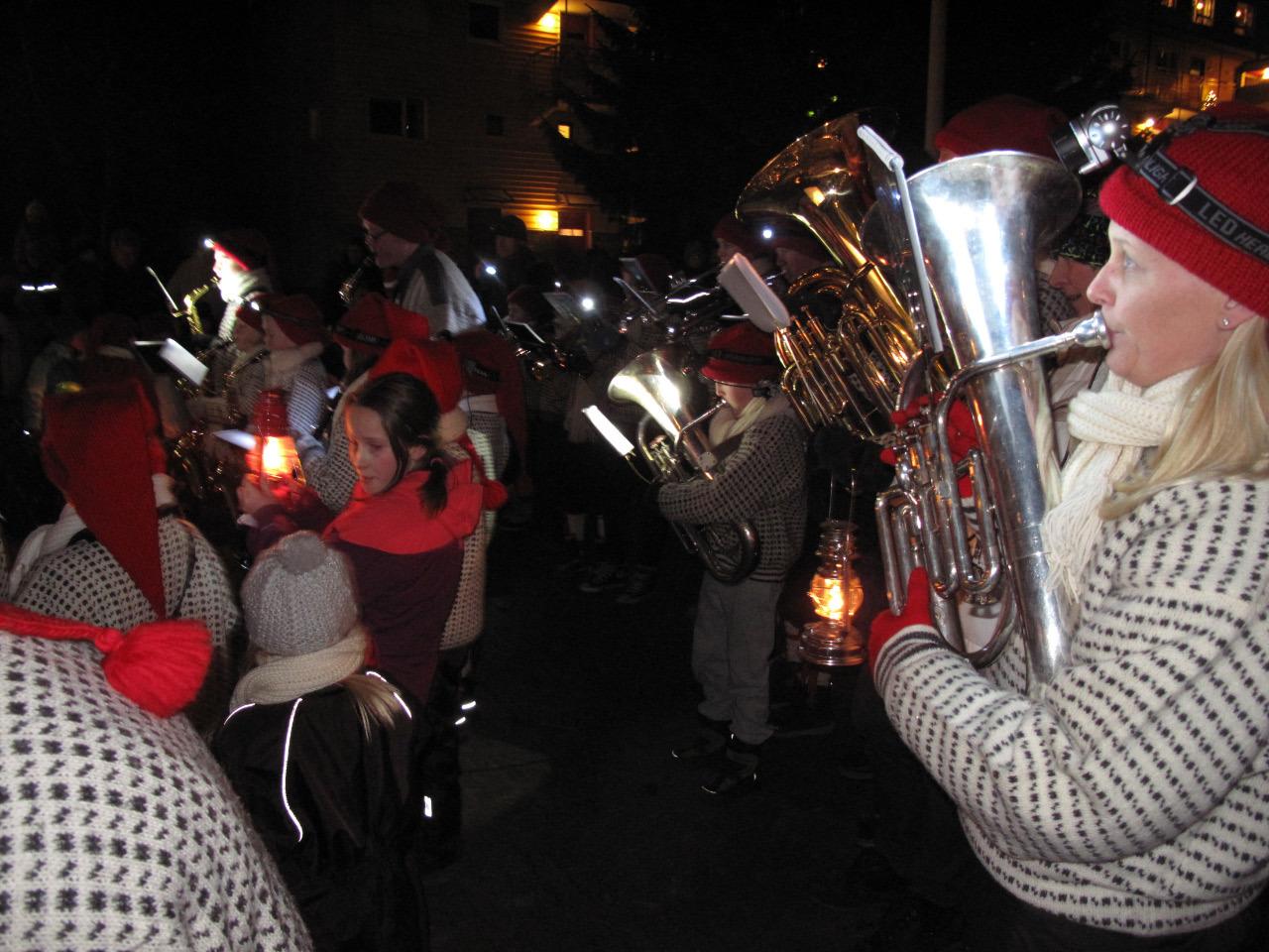 Julegrantenning på Casinetto, julen 2012