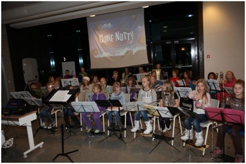 Konsert med aspirant- og juniorkorps