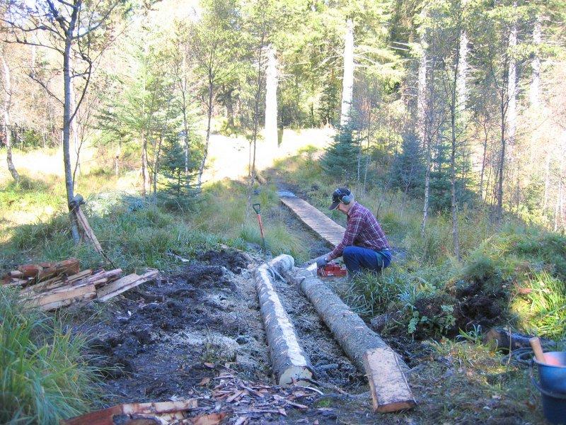 26-09 Utbedring av stien fra BT buen ved Søre Kamv