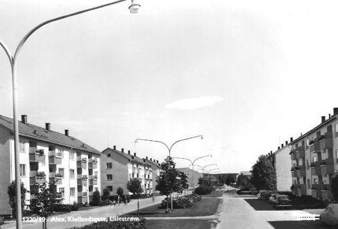 Postkort fra Lillestrøm i gamle dager.