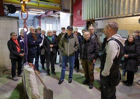 Bussturen 21. april gikk til Trondheim med besøk i Domkirken, Erkebispegården og Nidaros Domkirkes restaureringsarbeider. (NDR)