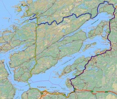 Tur til Åfjord, Stokkøya og Linesøya 1. juli 2012.